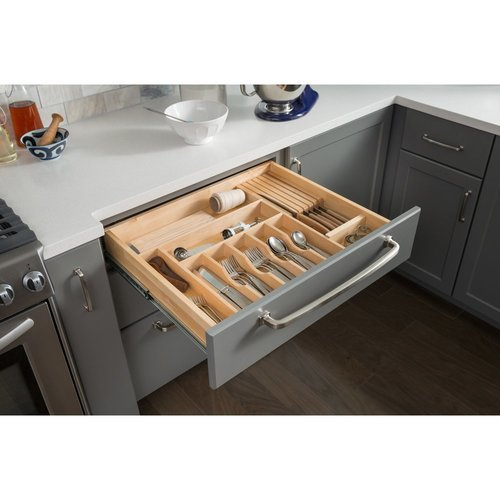 hardware resources 14 inch drawer organizer insert cutlery tray do14. Black Bedroom Furniture Sets. Home Design Ideas