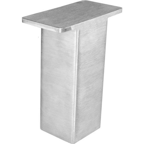 Federal Brace The Plaza Countertop Post Support 5 inch High - Brushed Stainless 31536