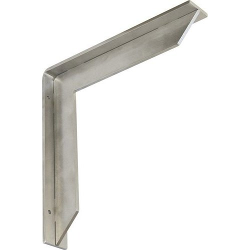 """Federal Brace Streamline Countertop Support 12"""" X 12"""" - Brushed Stainless 34448"""