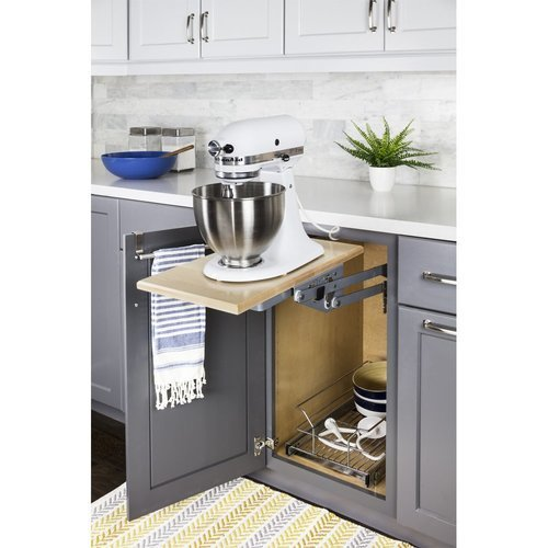 Hardware Resources Soft-close Mixer/Appliance Lift - Chrome ML-1CH