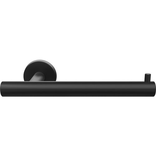 Amerock Arrondi 7-1/4 Inch Length Contemporary Tissue Roll Holder - Matte Black BH26540MB