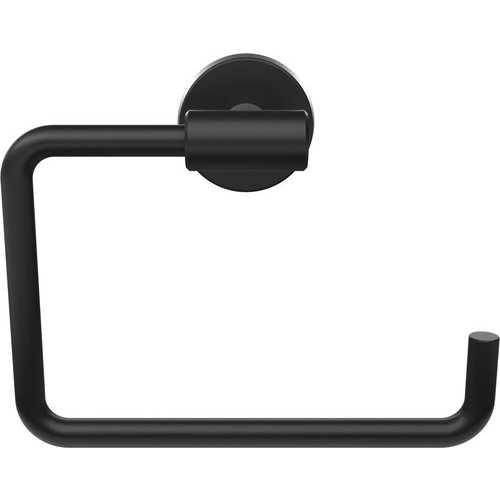 Amerock Arrondi 6-7/16 Inch Length Contemporary Towel Ring - Matte Black BH26541MB