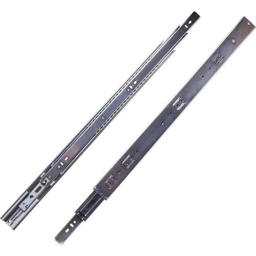 Hickory Hardware 18 Inch Soft Close Full Extension Ball Bearing Side Mount Drawer Slide - Cadmium P1055/18-2C