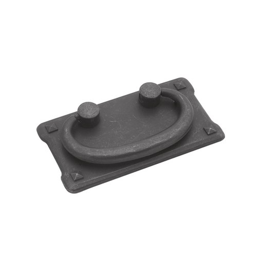 Hickory Hardware Old Mission Bail Pull 1-1/2 inch Center to Center Black Mist Antique PA0721-BMA