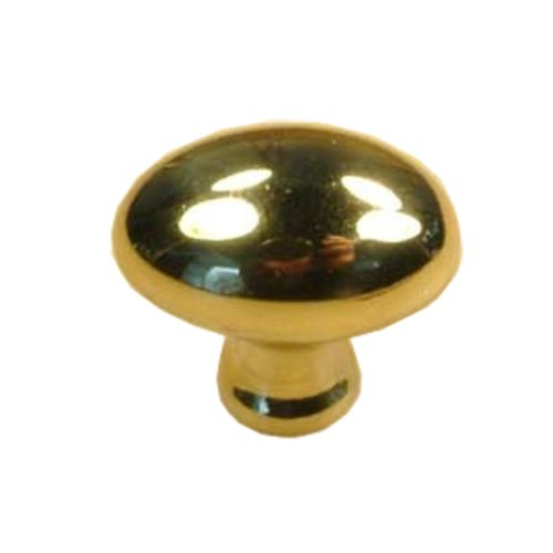 Elite 1 Inch Diameter Polished Brass Cabinet Knob <small>(#10302-3)</small>