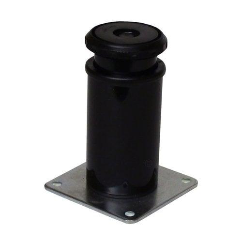 Peter Meier Camar 4 inch Como Leg Plate Mount-Black Gloss 552-10-P2