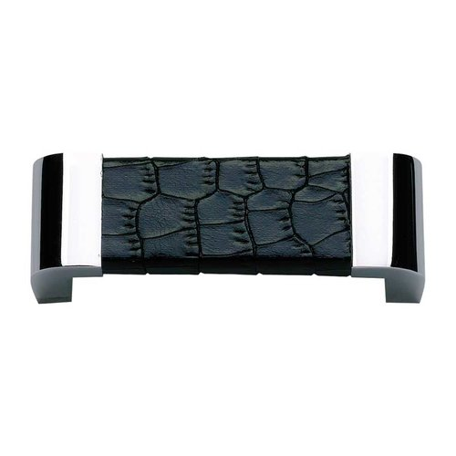 Atlas Homewares Paradigm 3 Inch Center to Center Chrome/Black Croc Cabinet Pull 3150-CROC