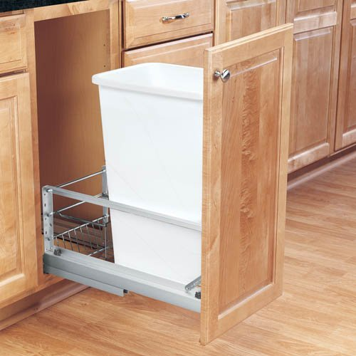 Single Trash Pullout 50 Quart-White <small>(#5349-1550DM-1)</small>