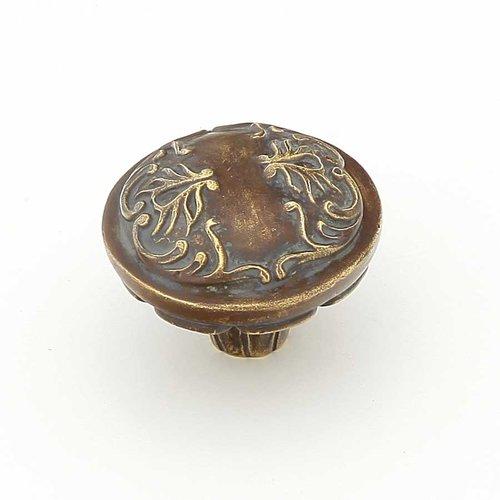Schaub and Company Cantata 1-1/4 Inch Diameter Monticello Brass Cabinet Knob 994-MBR