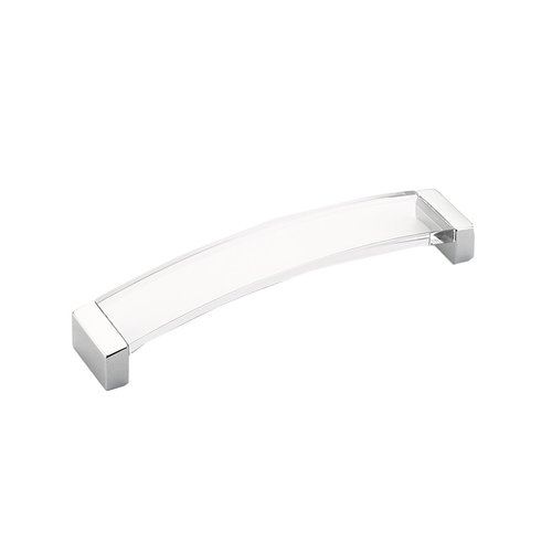 Schaub and Company Positano 6-5/16 Inch Center to Center Polished Chrome/Clear Cabinet Pull 321-26-CL