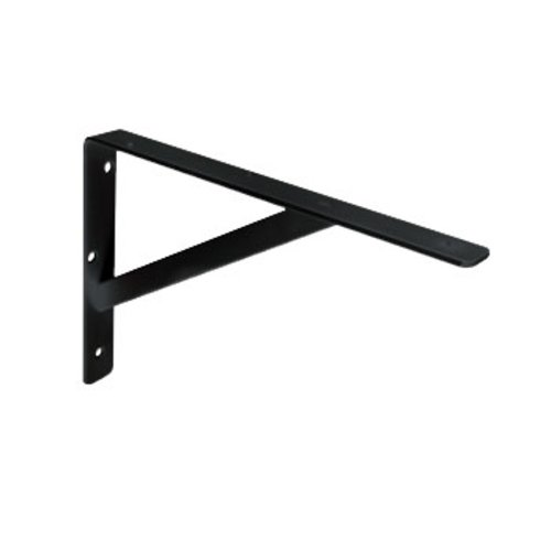 "Knape and Vogt 208 Ultimate L Bracket 12"" Black 208 BLK 300"