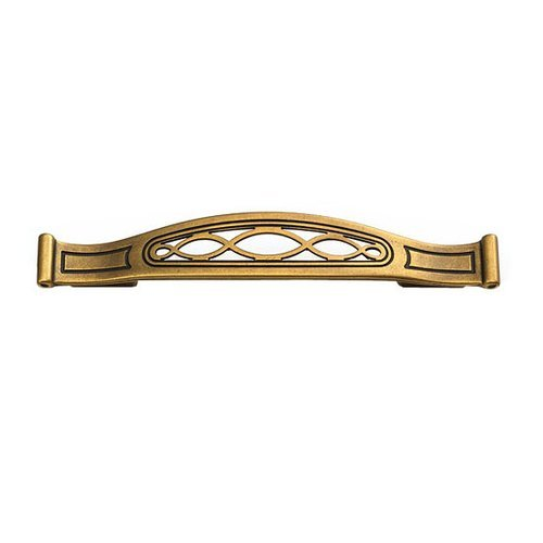 Schaub and Company Firenza Designs 5-1/16 Inch Center to Center Light Firenza Bronze Cabinet Pull 280-LFBZ