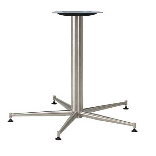 "Peter Meier 18"" X 18"" Five Leg Table Base - Stainless Steel 28-3/8"" H 7518-28-SS"