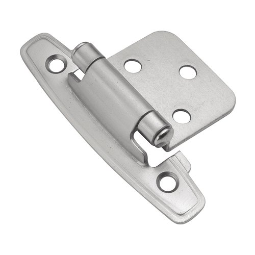 Hickory Hardware Variable Overlay Hinge Pair Satin Silver Cloud Self Close P296-SC