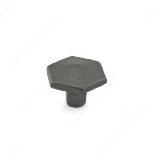 Richelieu Honeycomb 1-3/16 Inch Diameter Graphite Cabinet Knob 507830905