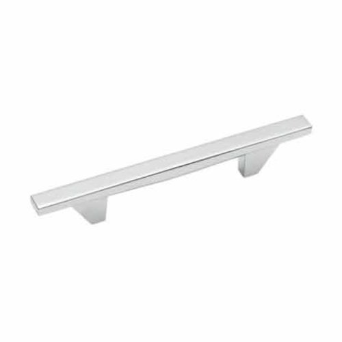Amerock Sleek 3-3/4 Inch Center to Center Polished Chrome Cabinet Pull BP2613526
