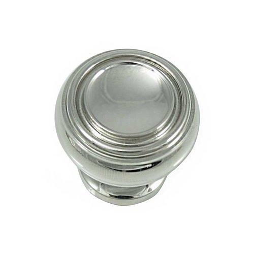 MNG Hardware Balance 1-1/4 Inch Diameter Polished Nickel Cabinet Knob 85014
