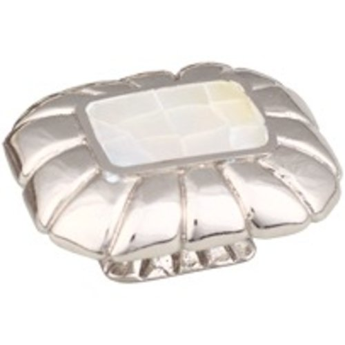 Schaub and Company Mother of Pearl 1-1/2 Inch Diameter Mother Of Pearl/Polished Nickel Cabinet Knob 851-MOP/PN