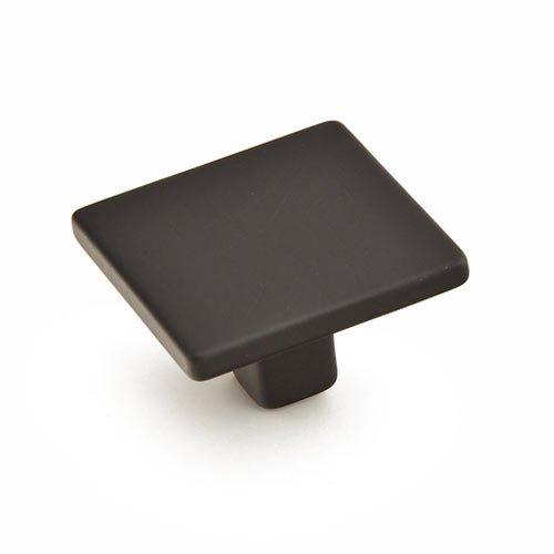 Schaub and Company Armadio 1-3/8 Inch Diameter Matte Black Cabinet Knob 360-MB