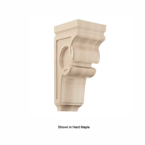Brown Wood Large Celtic Corbel Unfinished Alder 01601427AL1