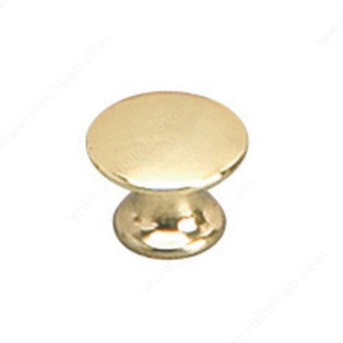 Richelieu Povera 1/2 Inch Diameter Brass Cabinet Knob 2445913130
