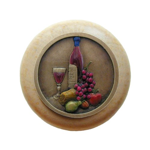Notting Hill Tuscan 1-1/2 Inch Diameter Brass Hand Tinted Cabinet Knob NHW-740N-BHT
