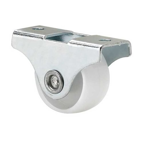 Fixed Caster - White & Zinc <small>(#531032G)</small>