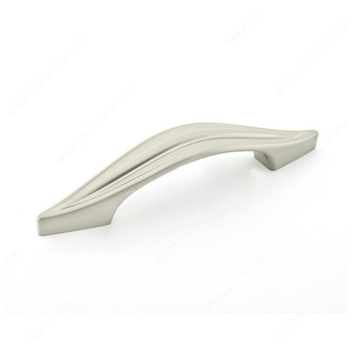 Swoop 3-3/4 Inch Center to Center Brushed Nickel Cabinet Pull <small>(#761596195)</small>