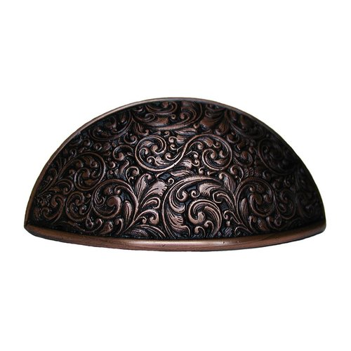 Notting Hill Classic 3 Inch Center to Center Antique Copper Cabinet Cup Pull NHBP-859-AC