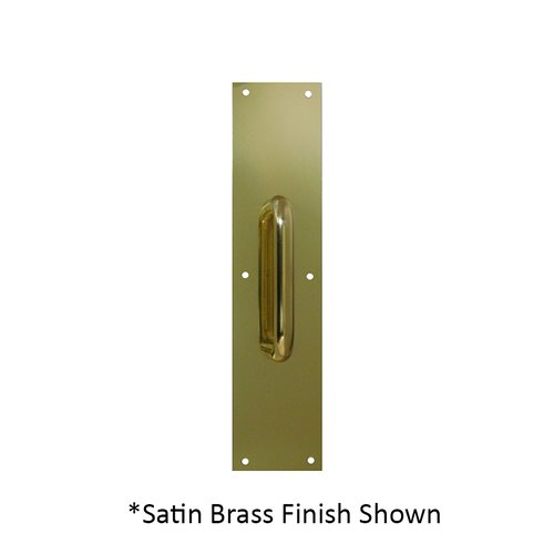 Don-Jo 4 inch x 16 inch Pull Plate with 13 inch Pull Satin Brass 7121-606