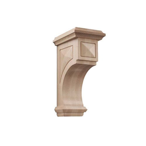 Brown Wood Large Apex Corbel Unfinished Hard Maple 01607317HM1