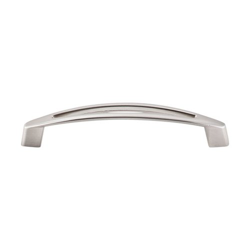 Top Knobs Nouveau 5-1/16 Inch Center to Center Brushed Satin Nickel Cabinet Pull M389