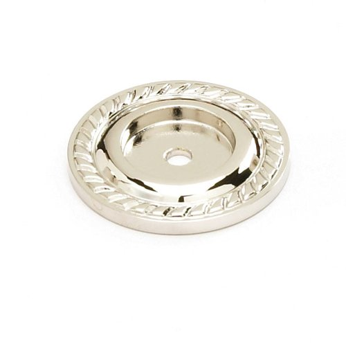 Schaub and Company Montcalm Forged Solid Brass 1-1/2 Inch Diameter Polished Nickel Back-plate 795-PN