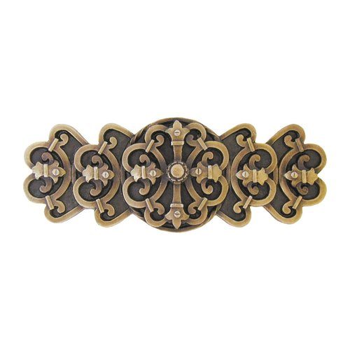 Notting Hill Olde World 3 Inch Center to Center Antique Brass Cabinet Pull NHP-676-AB