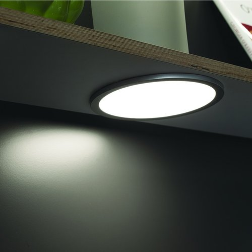 Hafele Loox 24V LED 3023 Silver Surface Mount Spotlight Cool White 833.77.131