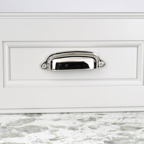 Century Hardware Yukon 3 Inch Center to Center Polished Nickel Cabinet Cup Pull 18143-14