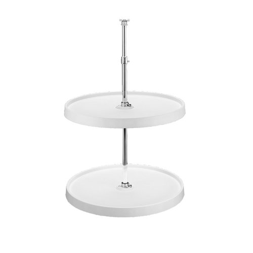 Rev-A-Shelf Full Circle 2 Shelf Set 24 inch Diameter-White 6012-24-11-52