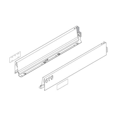 """Blum Tandembox N-18"""" Drawer Profile Left/Right Stainless Steel 378N4502IA"""