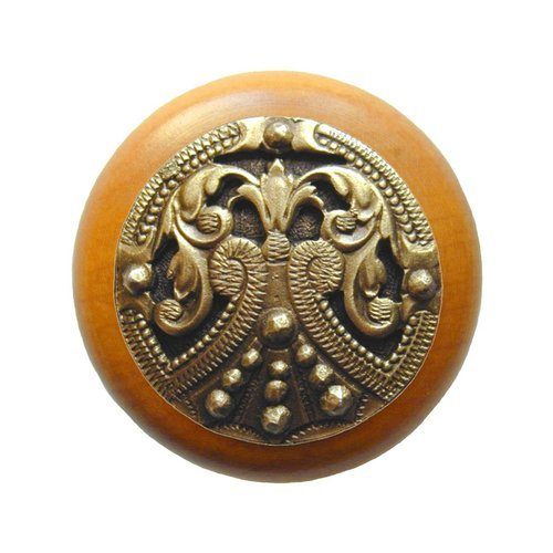 Notting Hill Olde Worlde 1-1/2 Inch Diameter Antique Brass Cabinet Knob NHW-701M-AB