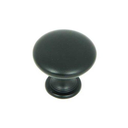Stone Mill Hardware Princeton 1-1/4 Inch Diameter Matte Black Cabinet Knob CP2175-MB