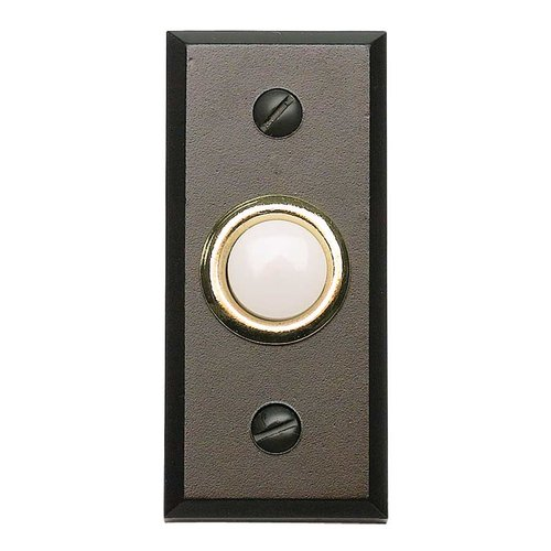Atlas Homewares Mission Lighted Doorbell Button Aged Bronze DB644-O