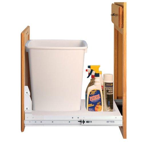 Fulterer Single Trash Pullout 36 Quart-White 92047