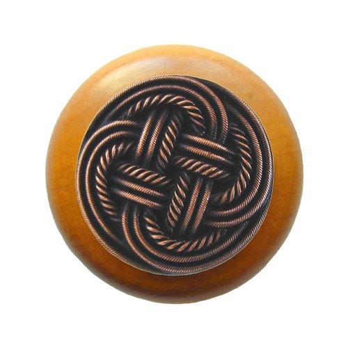 Notting Hill Classic 1-1/2 Inch Diameter Antique Copper Cabinet Knob NHW-739M-AC