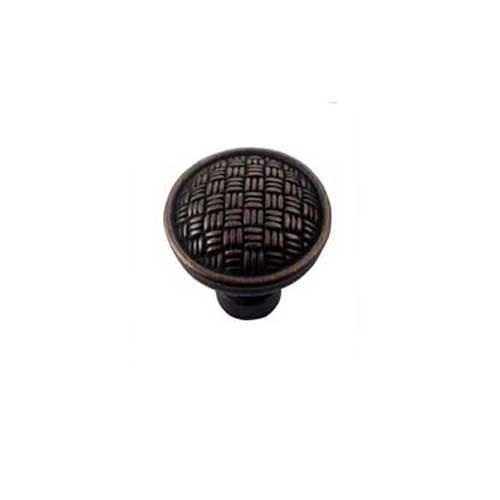 MNG Hardware Rattan 1-1/4 Inch Diameter Oil Rubbed Bronze Cabinet Knob 14513