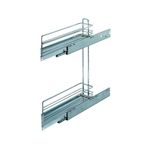Kessebohmer 2 Tier Base Pullout 45 Degree Left Swing Chrome 545.61.248