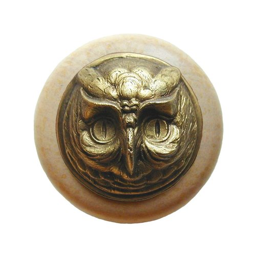 Notting Hill Great Outdoors 1-1/2 Inch Diameter Antique Brass Cabinet Knob NHW-711N-AB