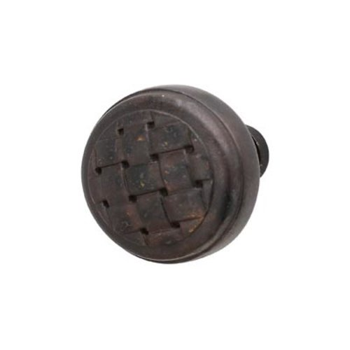 Hafele Cottage 1-3/8 Inch Diameter Oil Rubbed Bronze Cabinet Knob 125.85.300