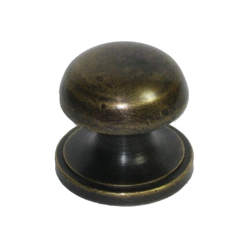 Knobs 1 Inch Diameter Unlacquered Antique Brass Cabinet Knob <small>(#HKN1022)</small>