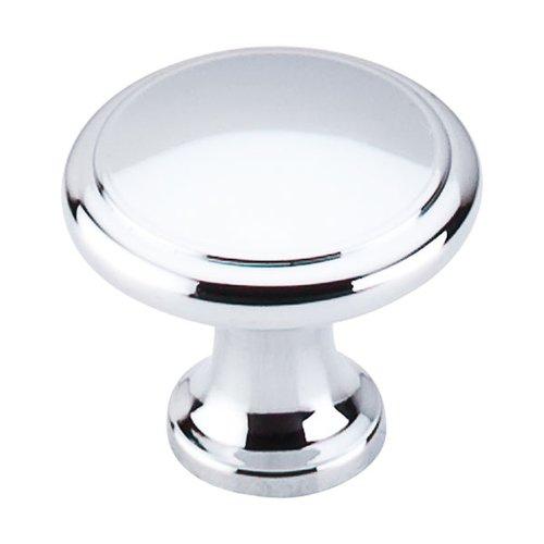 Top Knobs Nouveau 1-1/8 Inch Diameter Polished Chrome Cabinet Knob M377