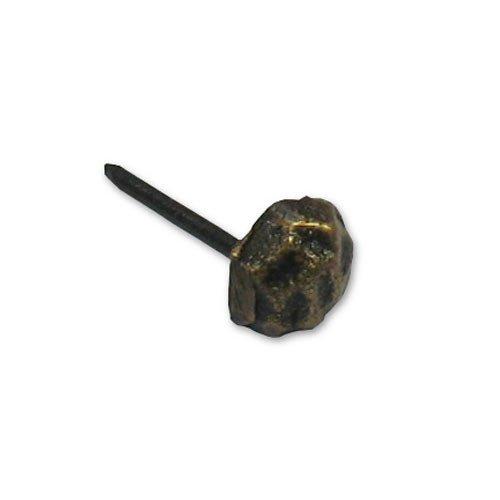 """Gado Gado Round Hammered Clavo 3/8"""" Dia - Antique Brass HCL1238"""